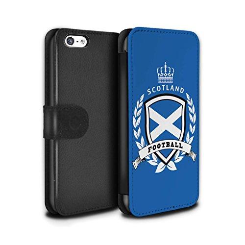 Stuff4 Coque/Etui/Housse Cuir PU Case/Cover pour Apple iPhone 5C / Brésil/Brésilien Design / Emblème Football Collection Ecosse/écossaise