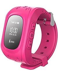 Rosepoem Rastreador GPS de los niños SmartWatch Reloj inteligente para niños Anti-Perdida Sos tarjeta SIM de reloj Control de Padres Por Smartphone reloj inteligente Q50 Perseguidor de la localización