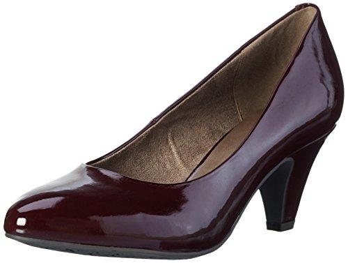 22416 580 À Marron Tamaris Bordeaux Chaussures Pat Femme Talon 78xOxg