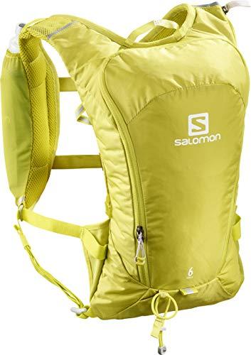 Salomon lc1093000 agile 6 set zaino leggero da corsa 6 l, giallo (citronelle)