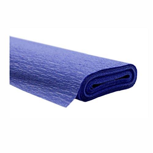 Creleo 791471 10 Rollen Krepppapier 50 x 250 cm blau -wasserfest-