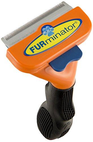 FURminator deShedding Hundebürste – Hundefellpflege in Größe M zur einfachen Entfernung von losen Haaren und Unterwolle - für Hunde mit kurzen Haaren