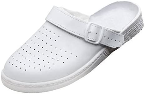 Maxguard CL101 Zueco Blanco perforado, unisex, Weiß, 38 EU