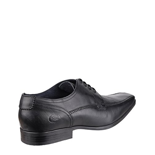 Base London Mens Lytham Excel Lace Up Leather Oxford Darby Dress Shoes Black waxy