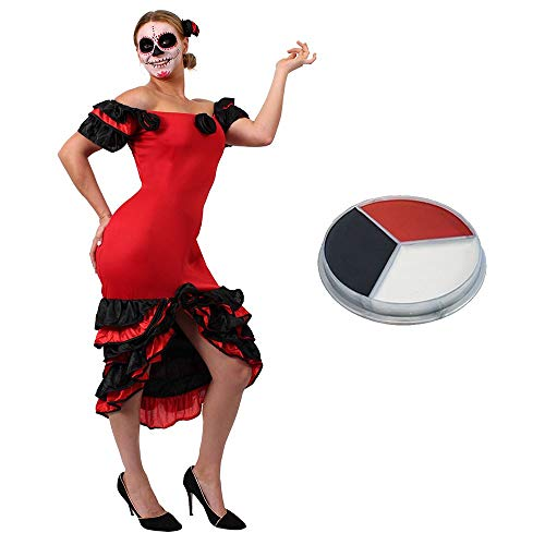 ILOVEFANCYDRESS Halloween Frauen Day of The Death Fasching Karneval KOSTÜM VERKLEIDUNG= Rumba ()