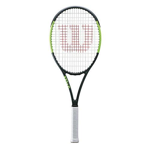 Wilson Raqueta de tenis unisex, Para juego de ataque en la línea de fondo, Para jugadores intermedios y expertos, Blade Team 99 LITE, Medida 2, Negro/ Verde, WRT73870U2