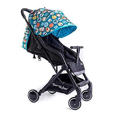 Famillidoo Air Stroller, Compact and Lightweight Pushchair, Suitable from Birth, Panda Blue