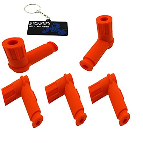 stoneder 5 x Orange Soft Zündspule Spark Plug Gap Cover für 50 cc 70 cc 90 cc 110 cc 125 cc 140 cc 150 cc 160 cc 200 cc 250 cc Pit Dirt Bike ATV Quad Buggy Go-Kart Moped Scooter