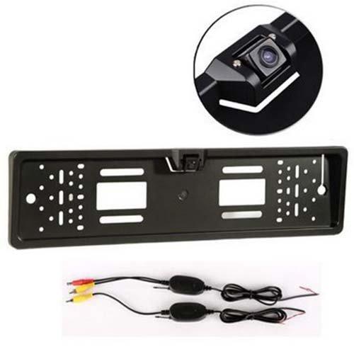 Camara trasera - TOOGOO(R) Camara trasera inalambrica Sensor de aparcamiento placa de numero inalambrico 170 grados IP67