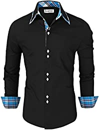 Tom's Ware Chemise-Inner carreaux a manches longues Button Down-Hommes