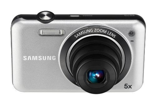 Samsung ES75 Digitalkamera (14 Megapixel, 5-Fach Opt. Zoom, 6,85 cm (2,7 Zoll) Bildstabilisator) Silber 14.2 Mp, 2.7