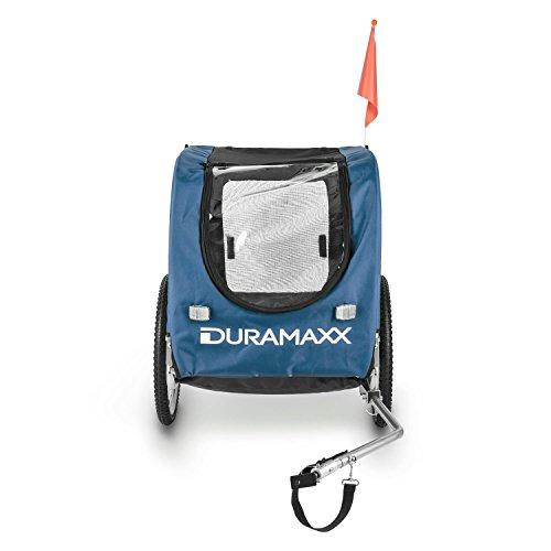 DURAMAXX King Rex Fahrradanhänger Lasten Hänger Hundehänger (mit Hochdeichsel, Laderaum mit 250 Liter Volumen, belastbar bis 40kg, Kugel-Kupplung für Fahrräder mit 26'' - 28'') blau-schwarz -