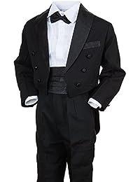 Festlicher Jungen Smoking Anzug 5 tlg. mit Weste oder Kummerbund in 3 Farben