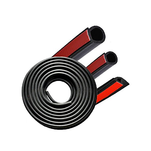 Sedeta® 4m D-Form-selbstklebendes Auto durch Rand-Dichtungs-Gummis Trim Protector Guard Wasserdichte Anti-Rausch-Streifen -