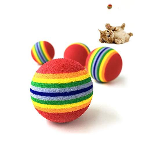 GREENLANS-1 Greenlands Hundespielzeug, Regenbogen-gestreift, zum Kauen, Beißen, Jagen, Welpen, Katzen, Spielzeug
