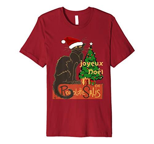 Joyeux Noel Le Chat Noir mit Baum und Geschenken T-Shirt