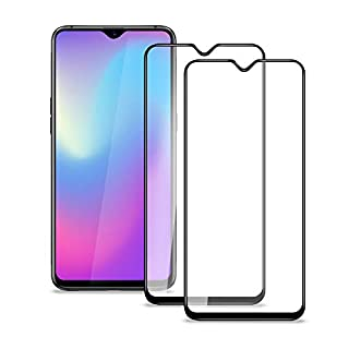 aceyoon compatible for Oneplus 6T Tempered Glass 2 Pack 9H Hardness Screen Replacement Protector Film All Cover 0.3mm Ultra Slim HD Clear 2.5D No Bubble Edge to Edge Anti Fingerprint