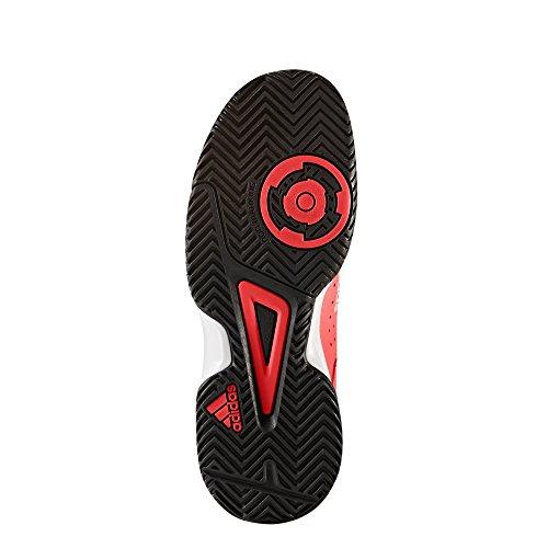 adidas Court Stabil Jr, Scarpe da Pallamano Unisex – Bambini Rosso (Solar Red/Ftwr White/Core Black)