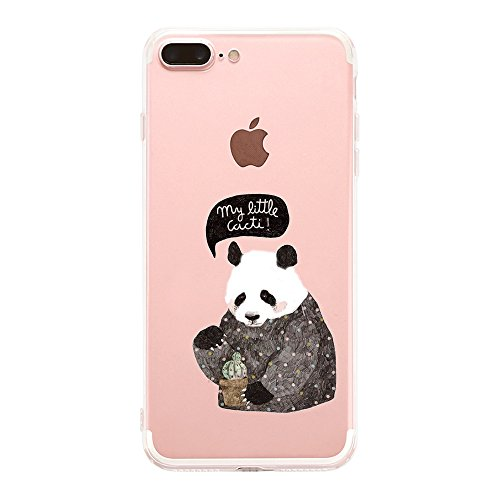 Custodia iPhone 7 Puls Cover, iPhone 7 Puls Clear Soft TPU Protective Case Back Cover with Cute Cartoon Pattern [Slim Fit] [Ultra Thin] for 5.5 inches iPhone 7 Puls (7) 4