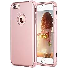 iPhone 6s Plus funda, ULAK iPhone 6 Plus Caso Lujo 3in1 híbrido de alto impacto de silicona suave a prueba de golpes duro caso de la cubierta de la PC para el iPhone 6 Plus / iPhone 6s Plus 5.5 pulgadas (oro rosa)