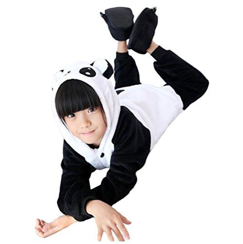 Y&L Jungen Mädchen Panda Schlafanzug Cosplay Kostüm Nachtwäsche Hoodies Onesies Halloween Medium (Kung Fu Panda Halloween Kostüme)