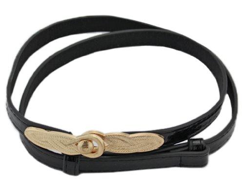 Bonamart Schöne Gürtel Snake Print PU Leder Einstellbar Gürtel Belt Waistband mit Schnalle für Damen (Snake Print Schnalle)