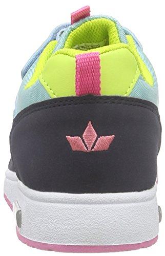 Lico Cool Vs, Baskets Basses fille Turquoise - Türkis (tuerkis/marine/rosa)