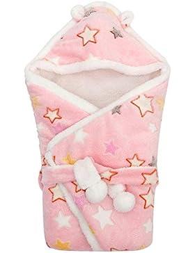 YFCH Baby Wickeldecke Fleece Wrap Decke mit Kapuze Neugeborene Multifunktion Schlafsack Baby Einschlagdecke Kuscheldecke...