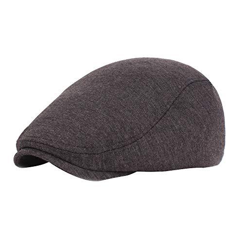 Sonnenhut strandhut, Der Gatsby Hut der schwarzen grauen Fischgrätenmuster Zeitungsjunge Bäcker Jungen Tweed flachen Kappe Männer