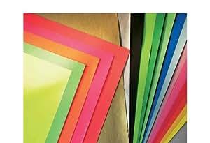 CANSON - affiche papier lisse, 600 x 800 mm, assorties idéal pour affiche publicitaire et pour les bricolages, satiné, chaque 25 feuilles 75 g/m2 dans les couleur
