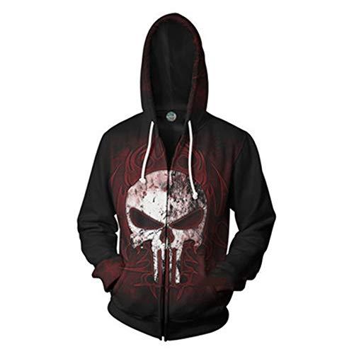 Rächer Hoodie Super Hero Cosplay Kostüme Langarm Für Die Jugend Punisher-XXXXL ()