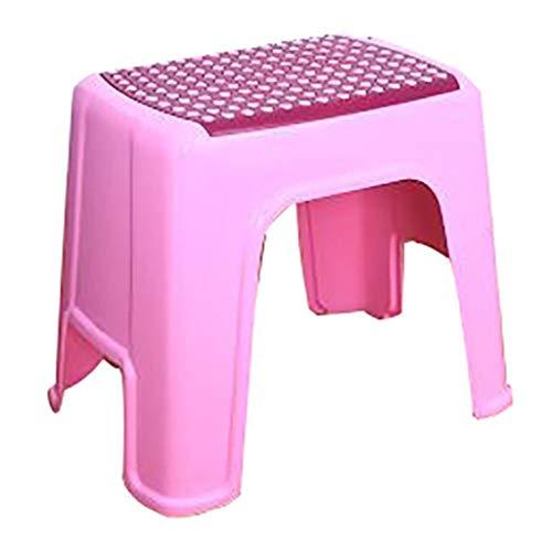 ZHJ-Stool Kunststoff Hocker Bad Haushalt WäSchestuhl Baby Bad Rutschfeste Stuhl Hocker Massage Schuh Hocker Optional Blau/GrüN/Pink