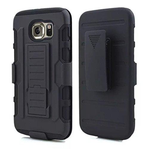 DBIT Galaxy S6 Custodia, Alta qualità Holster Cover Durevole TPU/PC