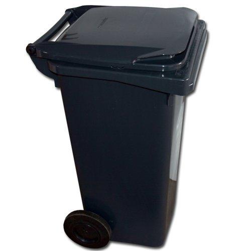 Mülltonne - Müllbehälter - Abfalltonne 120 liter EN 840-1 in schwarz