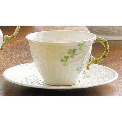 Belleek 5600040005 Shamrock Cup and Saucer Set by Belleek