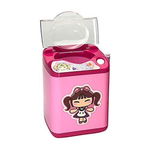 CAIZHAO Automatische Beauty Blender-Reinigung, Mini-Waschmaschine, tiefe Reinigungsbürsten und Schwamm sofort waschen und trocknen rosa oder rot nach dem Zufallsprinzip