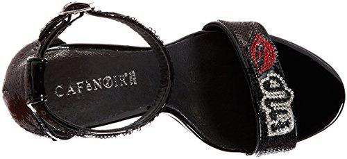 Café Noir Kne901, Sandales Bout Ouvert Femme Nero (Nero)