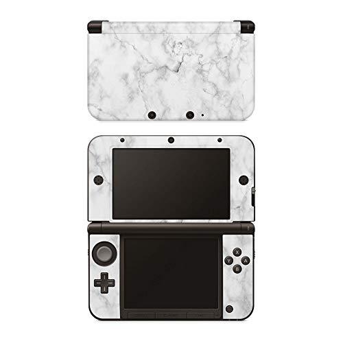 Skins4u Nintendo 3DS XL Skin Aufkleber Design Schutzfolie Marmor Weiss