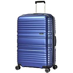 Eminent Valise Horizon 76 cm 110 L Poids léger TPO matériau Recyclable 4 Roues Doubles silencieuses Bleu