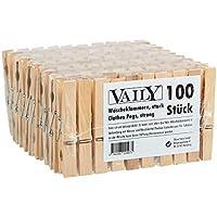 100unidades Madera Pinzas para la ropa (2x 50unidades)