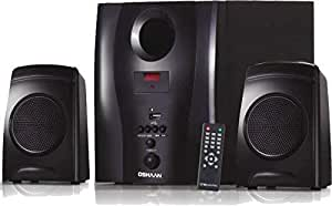 Oshaan Atom 2.1 Channel Multimedia Home Theatre Speaker System,Bluetooth connectivity,FM/AUX/USB Support
