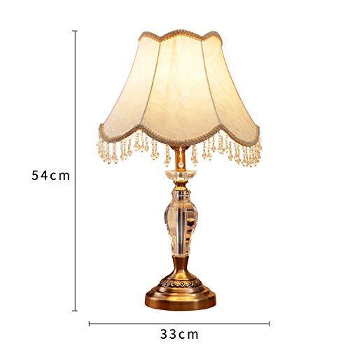 Kristall Antike Messing Traditionelle Klassische Tischlampe Europäischen Tischlampe Nachttischlampe Wohnzimmer Dekoration Lampe