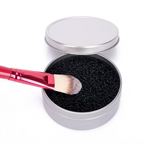 Silky Select Brosses de Maquillage Éponge Nettoyante Visage, Couleur Switch Propre et Sèche Enlever de Fard à Paupières Rapidement Makeup Brushes Cosmétique Pinceau Fondation avec Sac