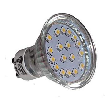 GU10 LED Bombilla 18 (3528) SMD 1W LED luz Lámpara LED Blanco Cálido 3000K