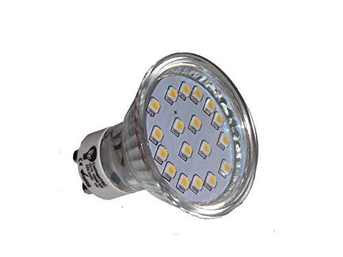 LED GU10, GU10 led Kaltweiss, GU10 18 SMD 3528 LED Lampe Leuchte Strahler GU10 1W 18 SMD (3528) LEDs 230V Kaltweiß 6000K 80 Lumen, LumenTEC