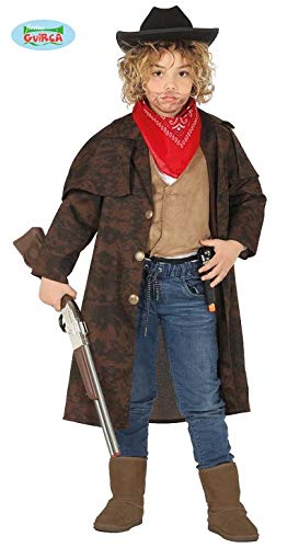 Fiestas Guirca Kinder Western Brown Cowboy Duster Mantel Large (7-9 Yrs)