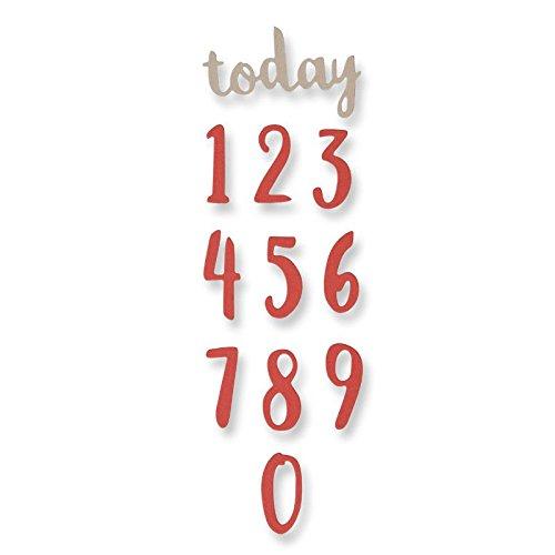 Sizzix Thinlits Stanzen Set 11 Stück-Pinsel-Zahlen von Debi Potter, Steel, Multicolour, 23.3 x 7 x 0.2 cm