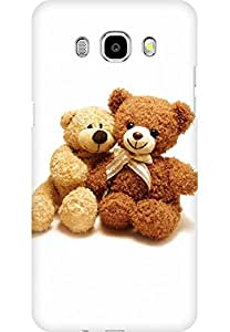 AMEZ designer printed 3d premium high quality back case cover for Samsung Galaxy J7 (2016) (I Love You Teddy Bear)