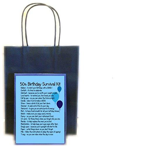 50th Birthday Novelty Survival Kit - Blue