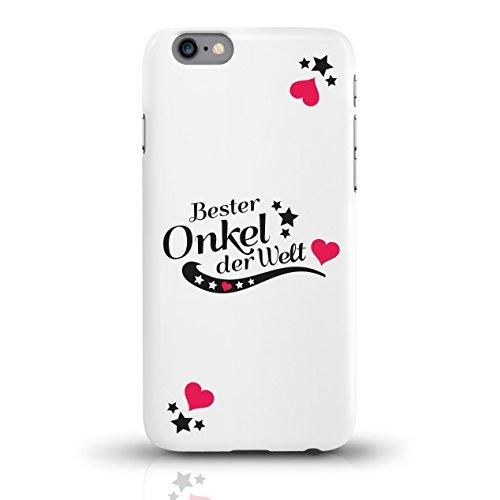 """JUNIWORDS Handyhüllen Slim Case für iPhone 6 / 6s mit Schriftzug """"Bester Onkel der Welt"""" - ideales Weihnachtsgeschenk für den Onkel - Motiv 4 - Handyhülle, Handycase, Handyschale, Schutzhülle für Ihr  motiv 2"""